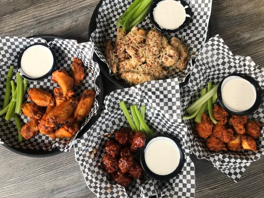 Assorted boneless and bone-in wings at Tried & True Alehouse in Greenwood and north-side Indianapolis
