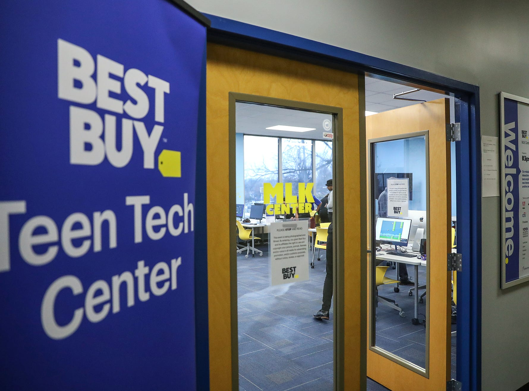 The Best Buy Teen Tech Center at the MLK Community Center in Indianapolis, Tuesday, Jan. 29, 2019.