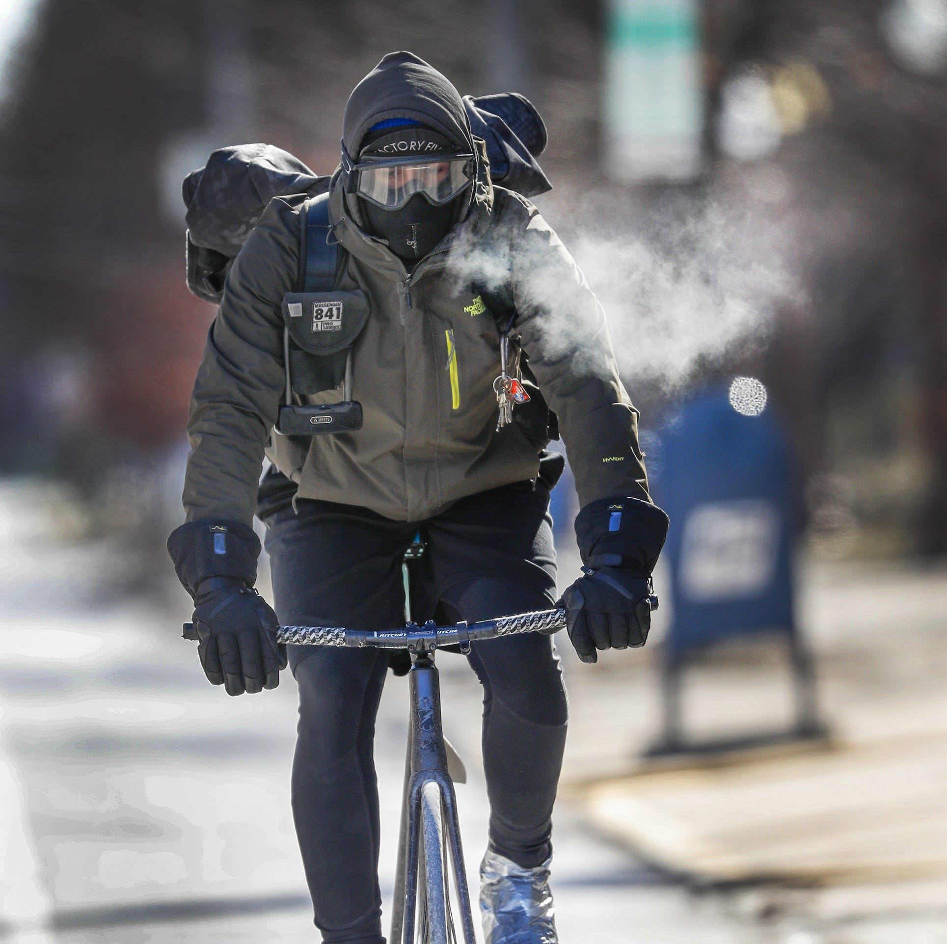 What it's like to be a bike courier in minus 39 degree wind chills