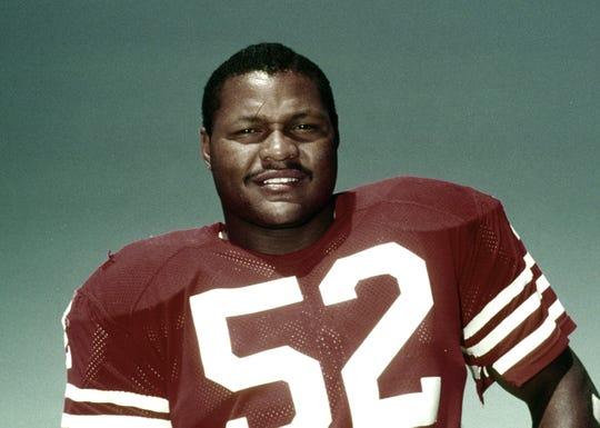 San Francisco 49ers linebacker Bobby Leopold in 1981.