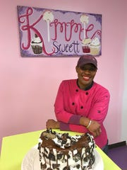 Kimberly Ruffin owns Kimmiesweett bakery at 1149 Old Fannin Road in Brandon at the reservoir.