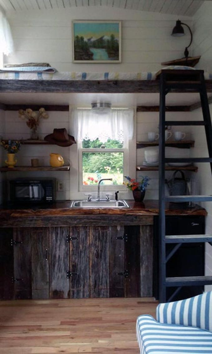 Custom tiny houses built by East Tennessee craftsman Randy Jones, owner of Incredible Tiny Homes