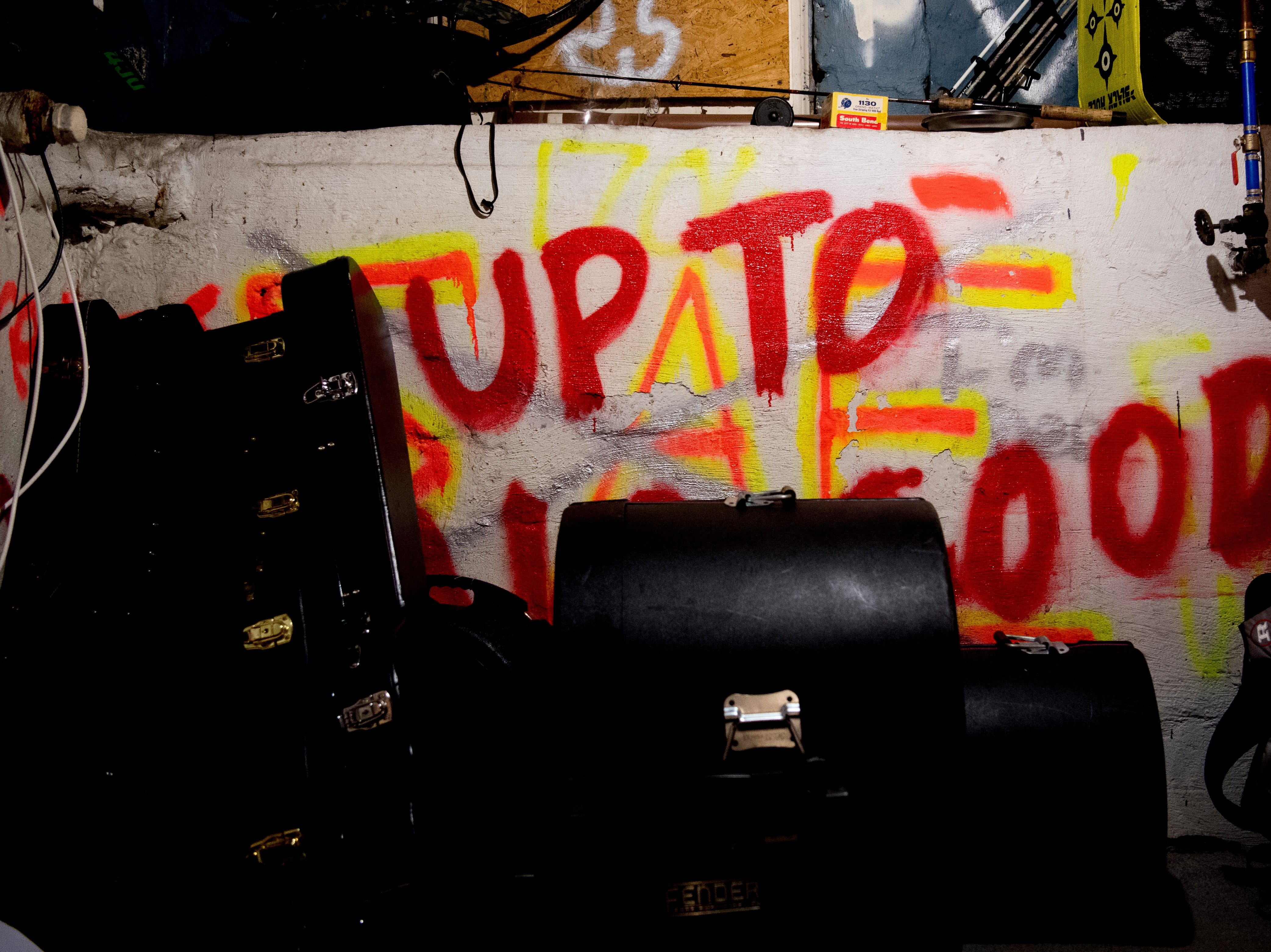 Spray paint decorates the walls of The Basement at 1706 Highland Ave. in Knoxville, Tennessee on Wednesday, January 30, 2019. The new venue is aiming to host local and national talent as well as arts and crafts.