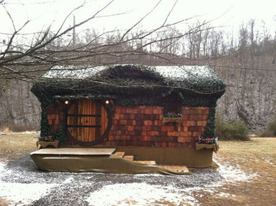 """A custom """"hobbit"""" tiny house built by East Tennessee craftsman Randy Jones, owner of Incredible Tiny Homes."""