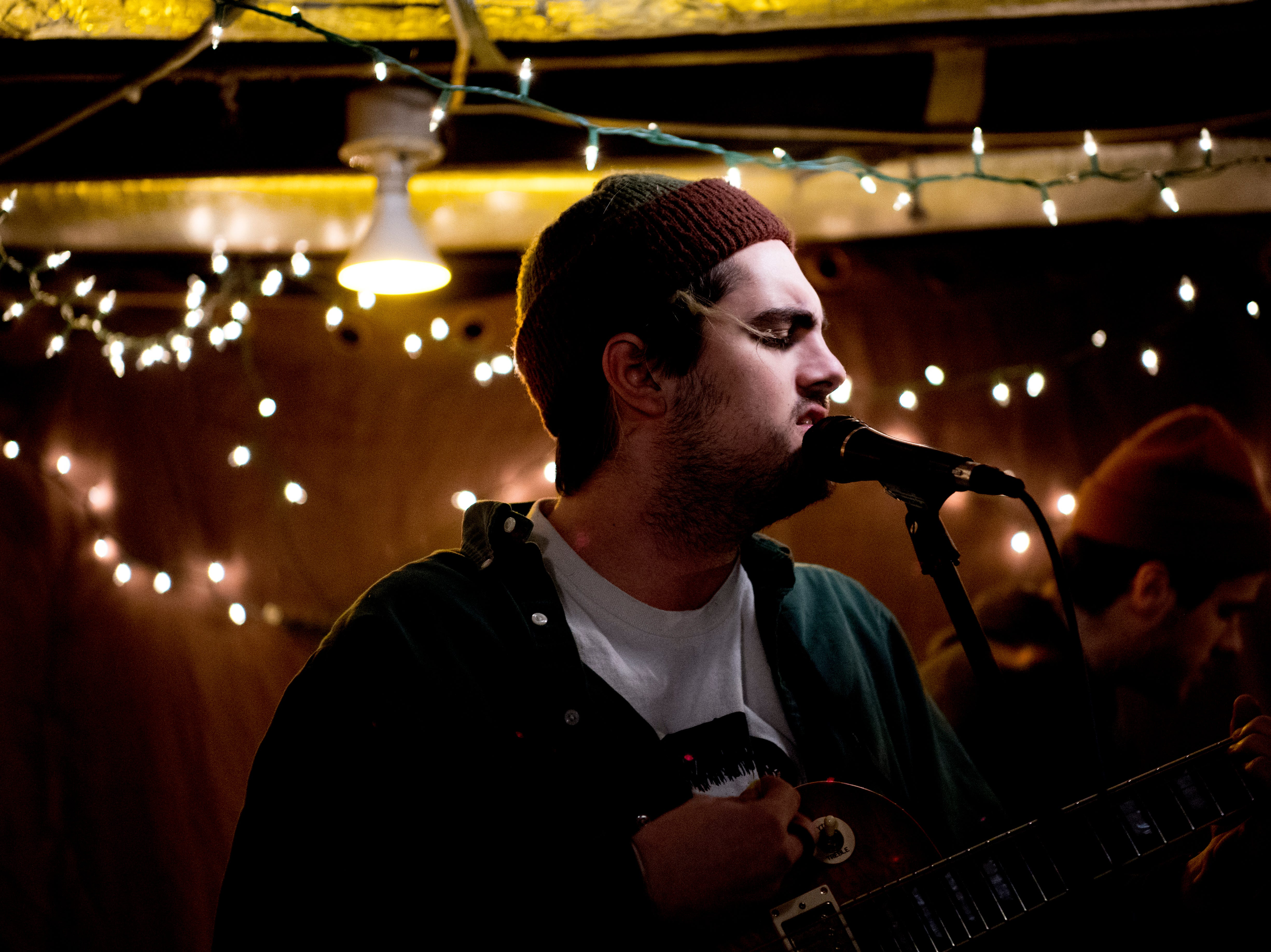 Tyler Clark performs with Tyler Cage and Aaron Cage at The Basement at 1706 Highland Ave. in Knoxville, Tennessee on Wednesday, January 30, 2019. The new venue is aiming to host local and national talent as well as arts and crafts.