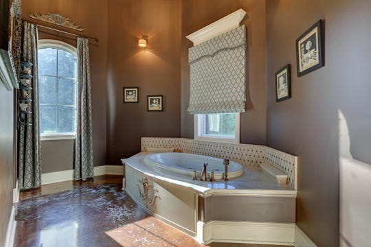 The master bath is a soothing retreat.