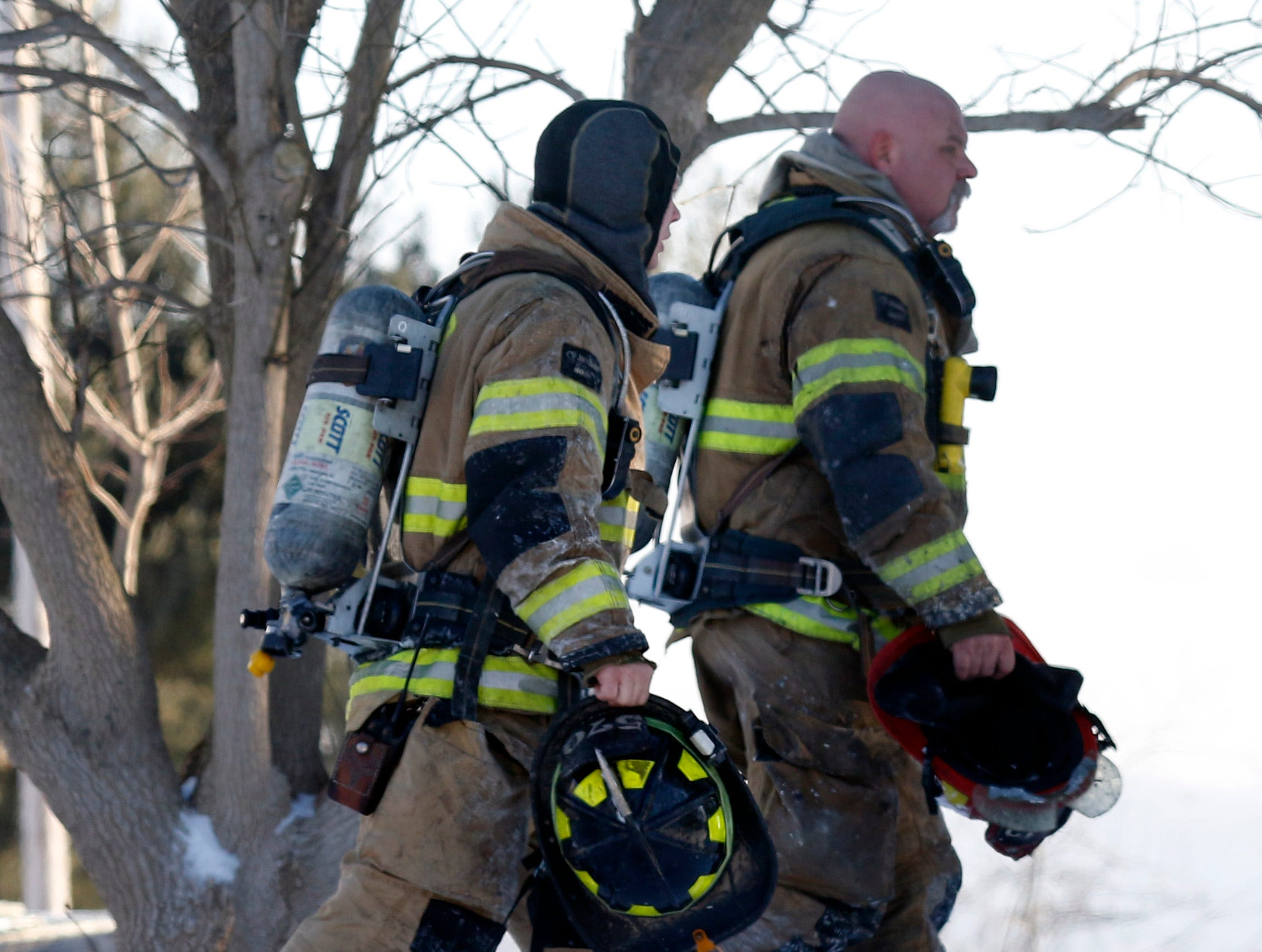 Fire destroyed a home, garage and several vehicles Wednesday morning, Jan. 30, 2019, at 9640 Old Rushville Road in Rushcreek Township.  Bremen-Rushcreek Township Fire Chief William Duvall said the fire started in the home's garage, burning it to the ground, and spreading into the home itself. No one was injured in the fire.