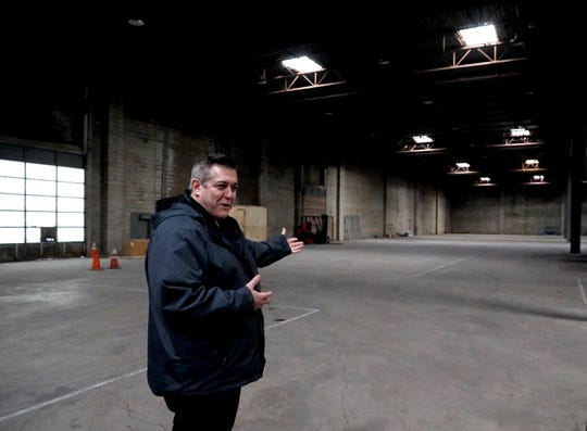Pete Swartz, general manager of Shared Options, talks about plans for a more than 200,000 square foot warehouse the company recently purchased at the intersection of Fulkerson Avenue and East Walnut Street in Lancaster. The company also purchased a warehouse next door at the corner of East Chestnut Street and Fulkerson Avenue.