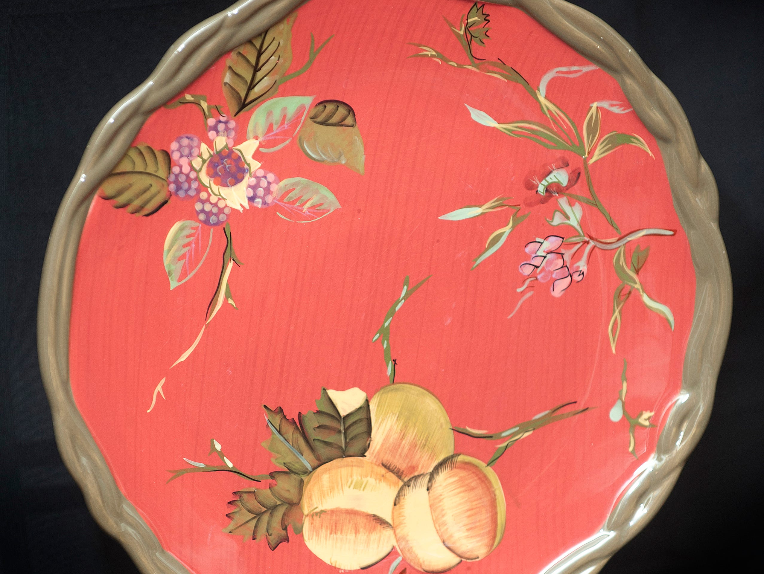 Carol Deeb took this dish to the paint store to use as a guide. The store recreated the various colors that she then used on the home's interior walls.