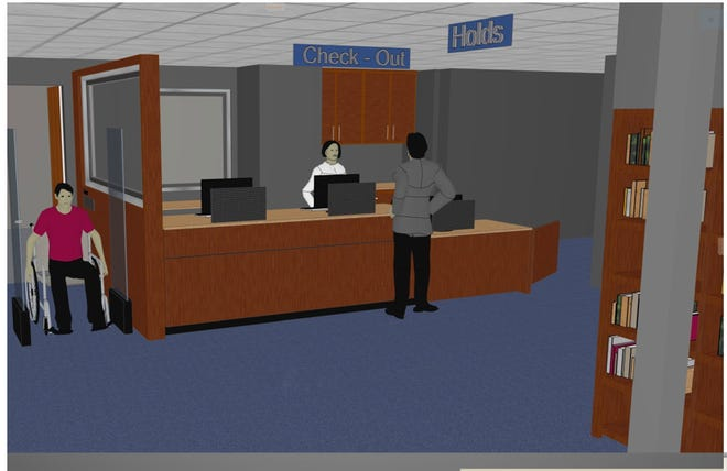 The Mansfield-Richland County Public Library's main library lobby and circulation department is getting a new look.  The main library will be closed starting Feb. 11 for one week, according to library director Chris May.