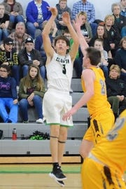 Clear Fork's AJ Blubaugh makes a jumper in the Colts' double-overtime victory over Buckeye Valley on Tuesday night. Blubaugh led the team with 25 points.