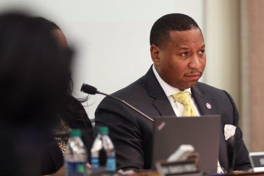 Interim School Superintendent Joris Ray during the Shelby County School Board meeting on Tuesday, Jan. 29, 2019.