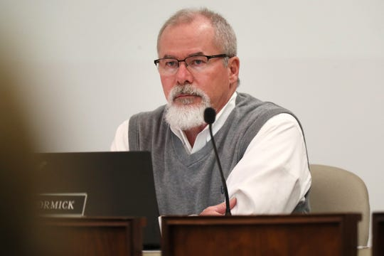 Board Member Scott McCormick during the Shelby County School Board meeting on Tuesday, Jan. 29, 2019.