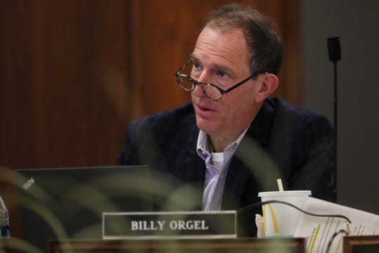 Billy Orgel speaks during the Shelby County School Board meeting on Jan. 29. Orgel's company, Tower Ventures, also has plans to redevelop a 55-acre area in Uptown Memphis.
