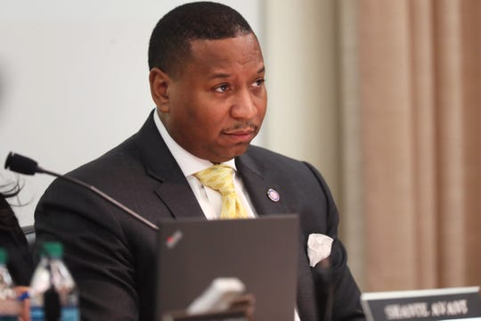 Interim SCS Superintendent Joris Ray during the Shelby County School Board meeting on Jan. 29.