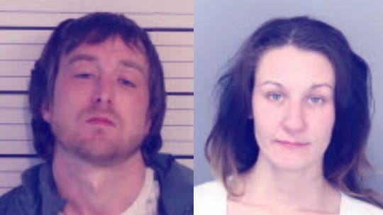 Daniel Moore, left, and Brittany Moore