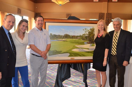 Pictured from left, Graeme Baxter, Leslie Johnson, Jimmy Alston, Laura Hill and General Manager Don Madalinksi.