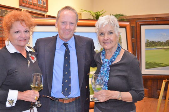 From left, Lyne Dellandrea, Graeme Baxter and Shirley Coleman.