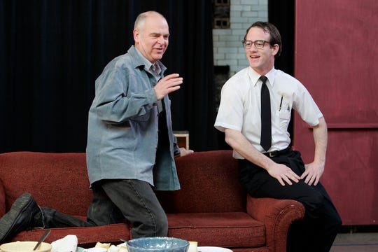 "2007: James Pickering (left) directs Gerry Neugent in ""The Nerd"" at the Milwaukee Repertory Theater. Pickering played that role in an earlier Rep production."