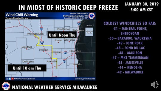 Wisconsin is in the midst of a historic deep freeze.