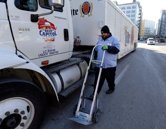 You couldn't see this on Wednesday. Beer distributors canceled deliveries because of the extreme cold weather.