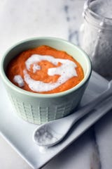 Baked Sweet Potato Coconut Pudding can be served as a side dish or, topped with coconut cream or maple syrup, as a dessert.