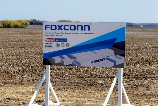 Work has begun on the Foxconn site in Racine County.