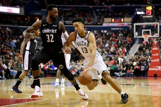 Malcolm Brodgon was replaced in the Bucks lineup by Tony Snell on Tuesday night after Brodgon was hit in the chest by Thunder Forward Jerami Grant on Sunday.