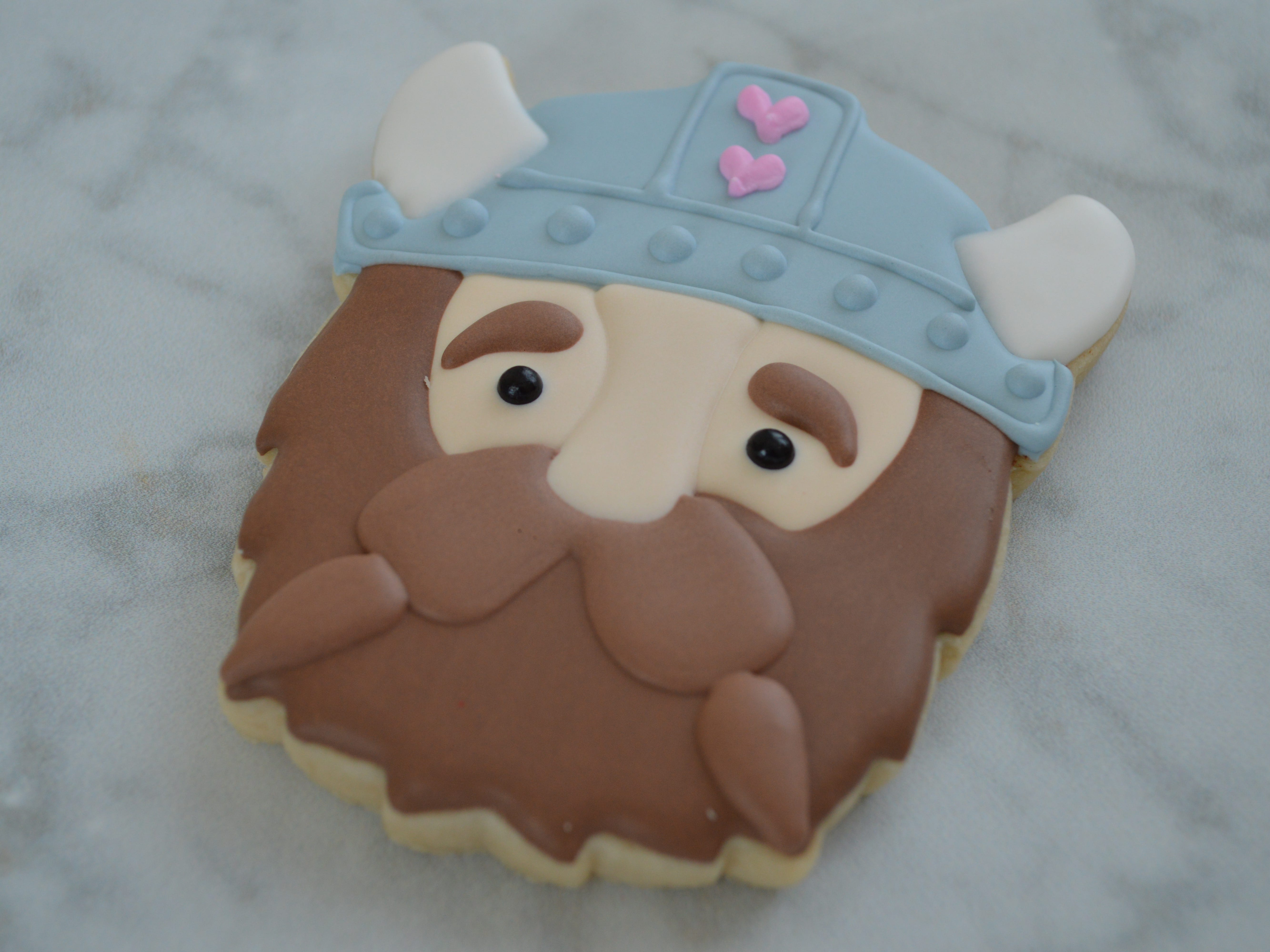 "Most of Trisha Isaac's Valentine's Day cookies are inspired by puns like ""I've taken a viking to you."""