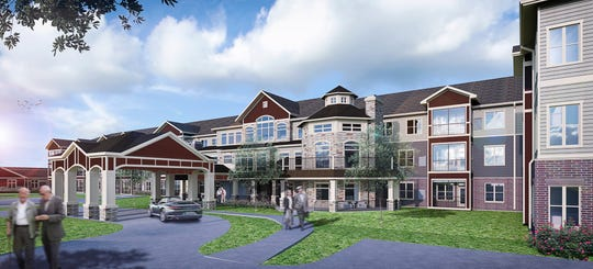 New Perspective Senior Living is under construction at 7220 Ballpark Drive South in Franklin. The development includes 149 units of senior living and memory care.
