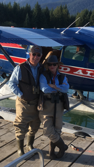 Lisa and Junot Dixon of Monroe getting ready for flightseeing in Alaska.