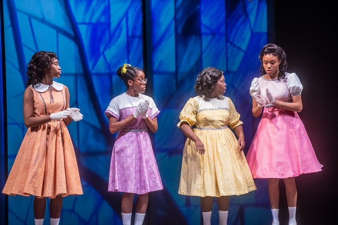 Jalyn Crosby as Addie Mae Collins, Jhordyn Long as Denise McNair, Trinity Ross as Carole Robertson and Antonisia Collins as Cynthia Wesley.