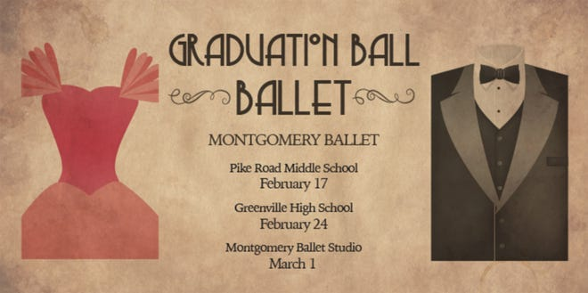 """Montgomery Ballet is presenting """"Graduation Ball"""" and """"The Masks We Wear"""" at Greenville High School on Sunday, Feb. 24."""