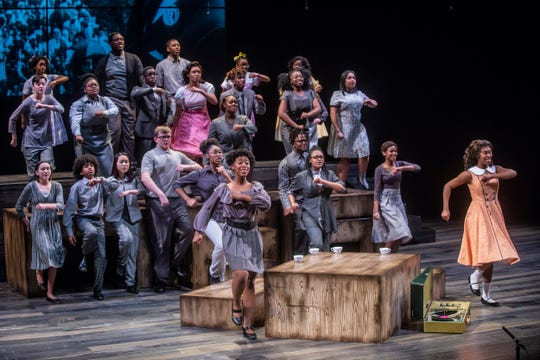 The cast of Four Little Girls at Alabama Shakespeare Festival is made up of Montgomery Public Schools students.