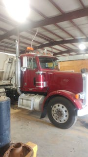 This truck was stolen from a construction business then pieced apart before it was found in west Montgomery.