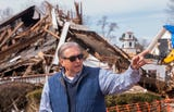 Mayor Jerry Willis discusses storm cleanup in Wetumpka, Ala., on Wednesday January 30, 2019. A tornado hit the town on Saturday January 19.