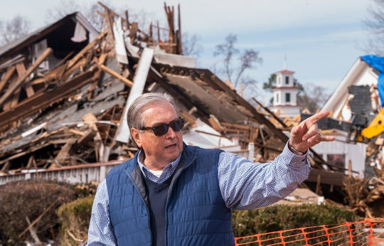 Mayor Jerry Willis stands in the tornado debris in Wetumpka, Ala., on Wednesday January 30, 2019. A tornado hit the town on Saturday January 19, 2019.