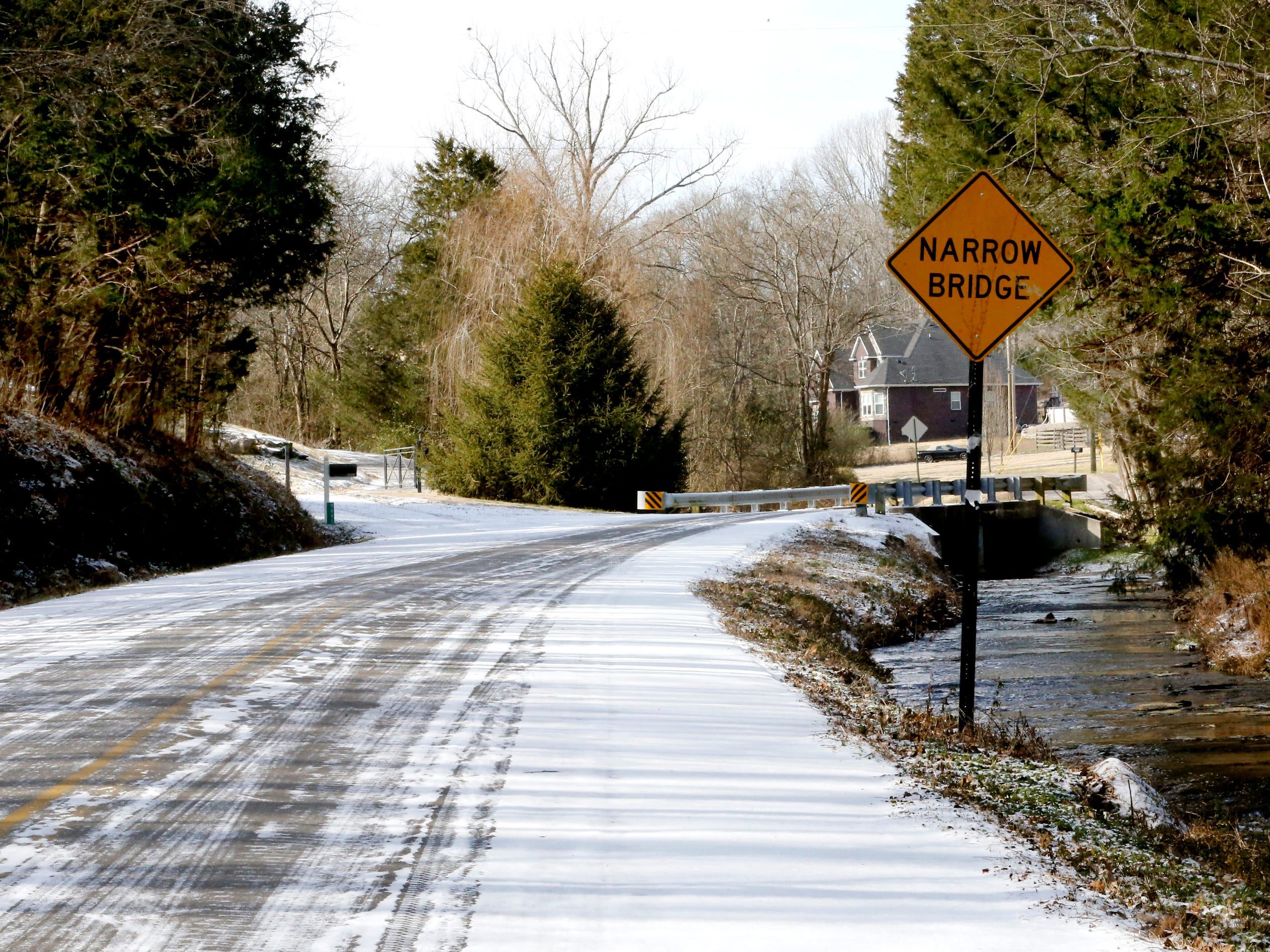 Even after most of the main roads were clear of ice and snow backroads and driveways were still white with a light coat of snow and ice on Wednesday, Jan. 30, 2019.