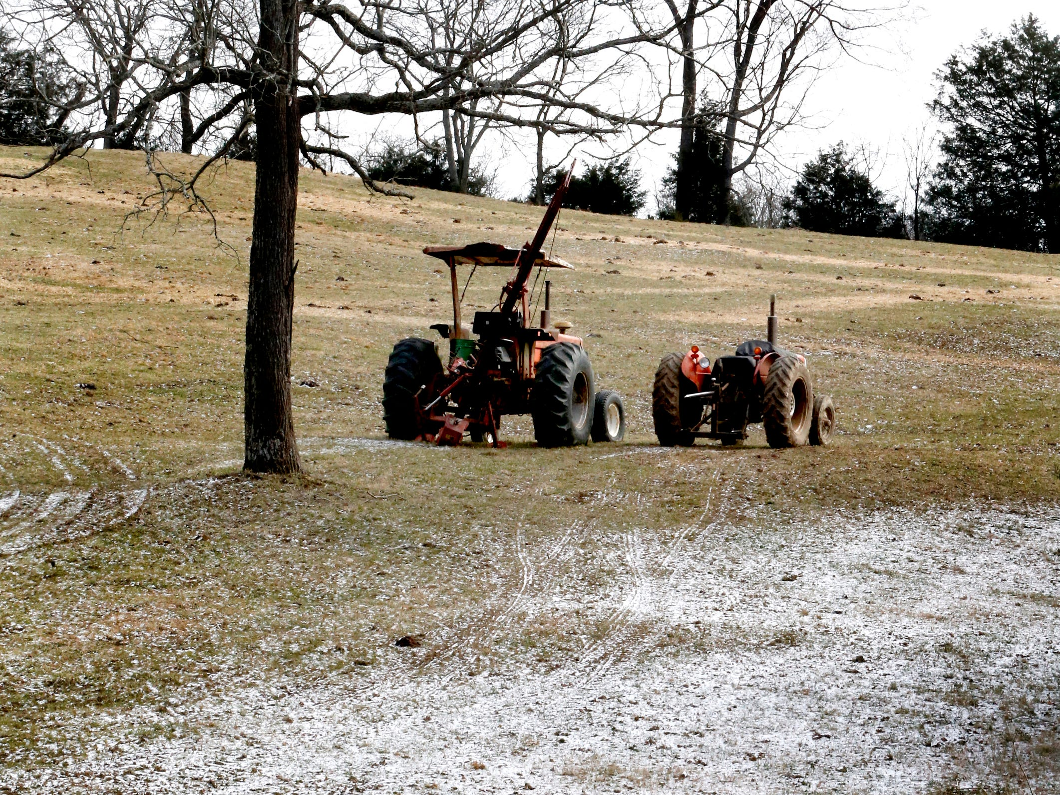 A dusting of snow covered some of Rutherford County on Wednesday morning, Jan. 30, 2019.