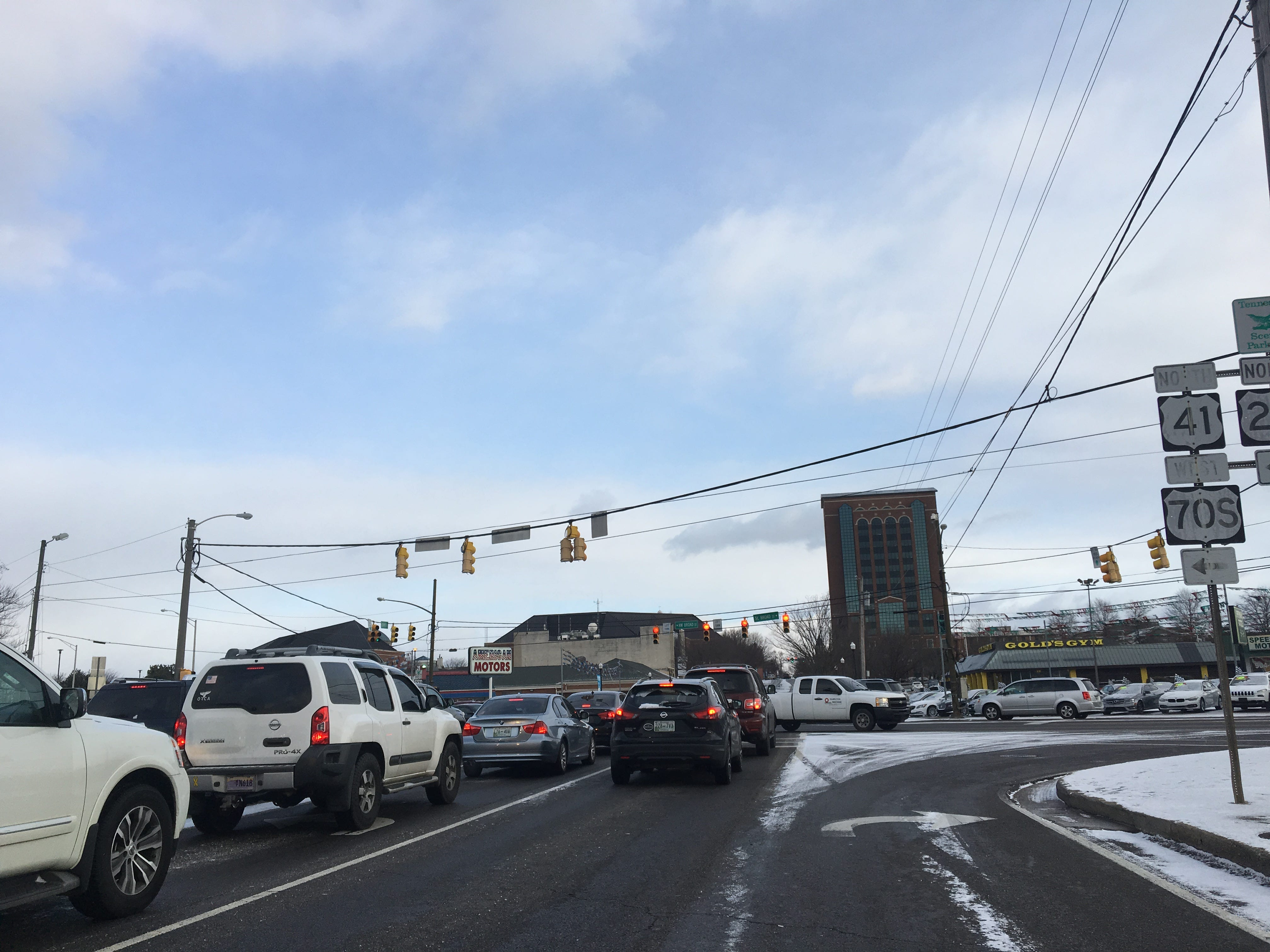 Major roads, such as South Church Street and Broad Street were safe to travel despite snow on Wednesday, Jan. 30, 2019.