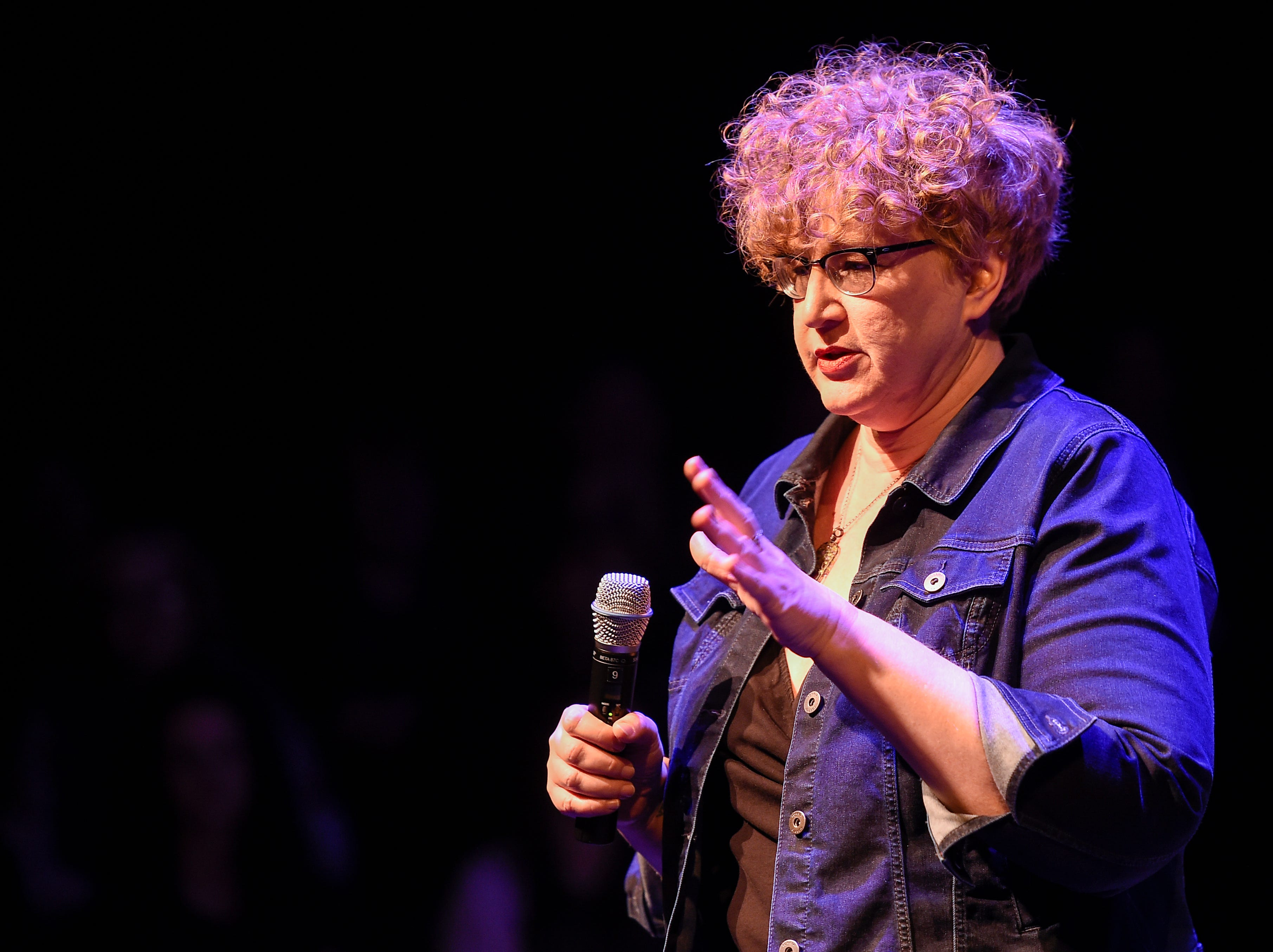 "Heidi Hall tells her story at ""Nashville Storytellers: Survival"" held at Tennessee Performing Art Center on Monday, Jan. 28, 2019."