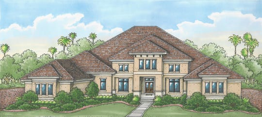 The Glendale model overlooks a lake and the 11th fairway of the community's Lakes Course.