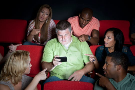 Doesn't it make you mad when people text during a movie?