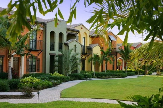 Photo of town homes at Ole in Lely Resort.