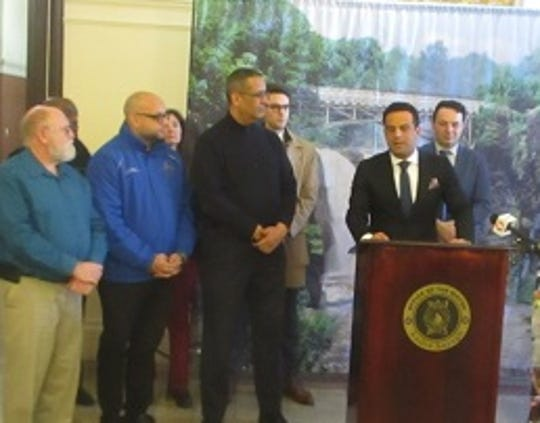 Robby Younces, C.E.O of the Crystal Springs Resort in Sussex County, expresses gratitude for the new employment collaboration involving the city of Paterson.