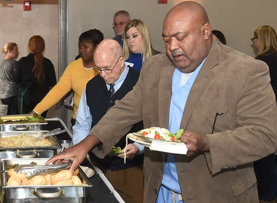 The St. Landry Chamber of Commerce recently held a luncheon at the Opelousas Holiday Inn to announce plans for the 100th anniversary party of the chamber to be held in March at the Evangelne Downs Event Center.