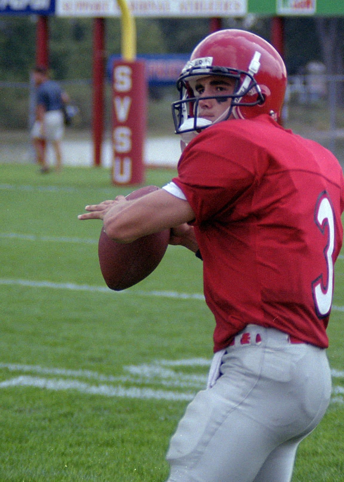 Matt LaFleur as quarterback at Saginaw Valley State.