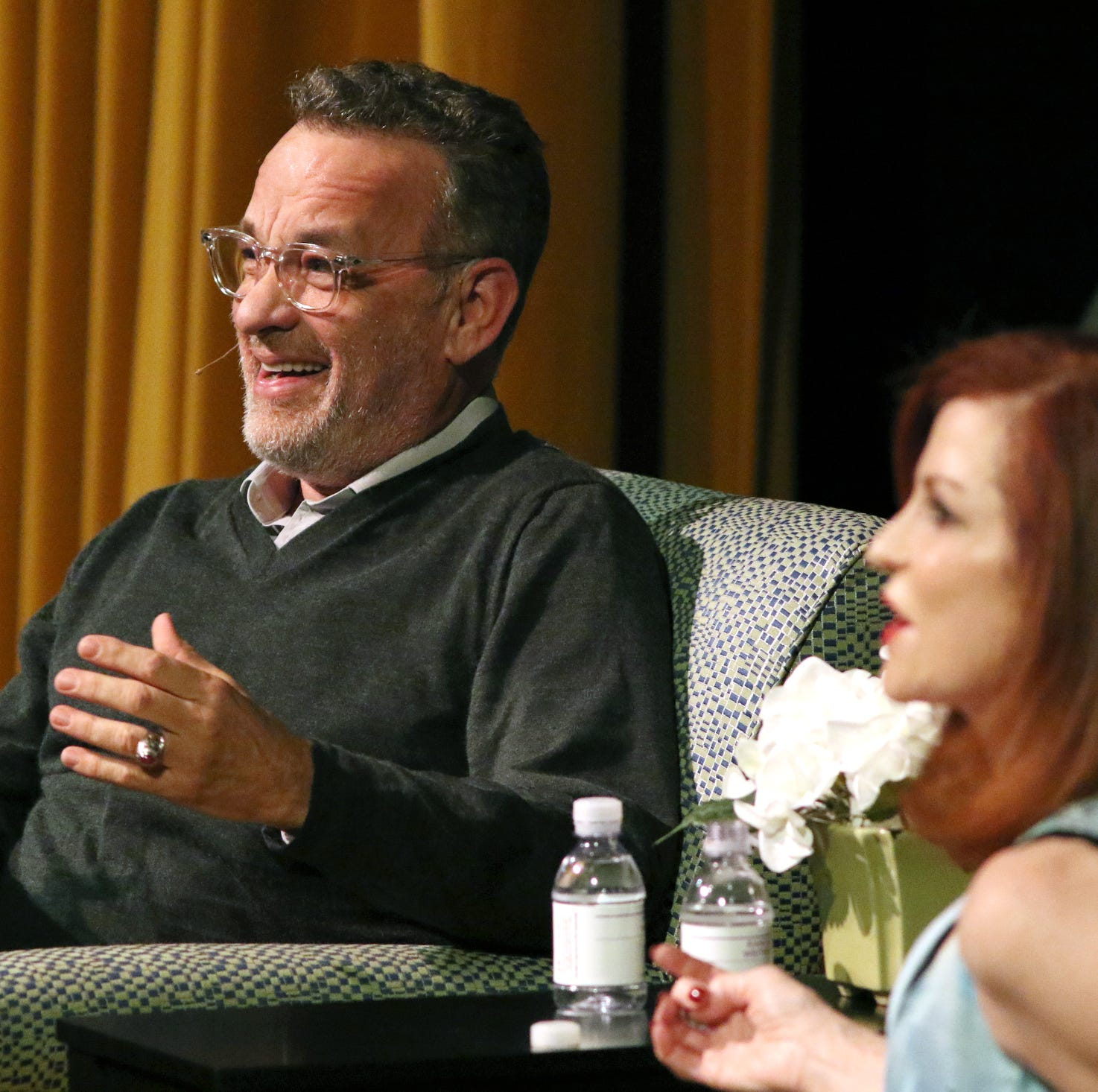 At writers festival, Tom Hanks jokes about being president, offers advice on American politics
