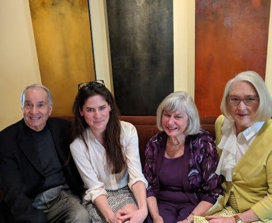 (L-R) Michael Smith, Hannah Pittard, Donna Martin and Nancy Cunningham.