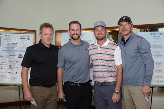 1st Place Winners L to R Team Palm Springs Power Baseball: Blake Tatom, John Bertram, Andrew Starke, Greg Wallis